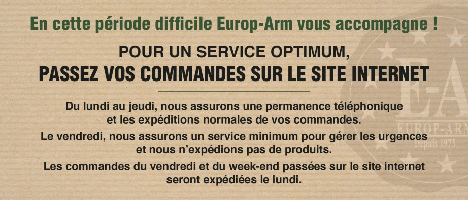 Vos commandes Europ-Arm !