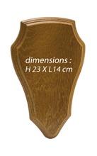 Photo Ecusson pour trophée chevreuil ou cerf