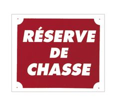 Photo '' Game Reserve '' sign 30 x 25 cm