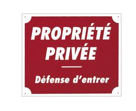 Photo Panneau ''Propriété privée'' 30 x 25 cm