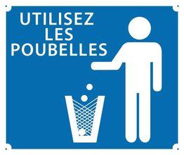 Photo Panneau ''Utilisez les poubelles'' 30 x 25 cm
