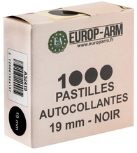 Photo Pastilles autocollantes noires diam. 15 ou 19 mm