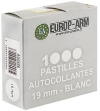 Photo Pastilles autocollantes blanches diam. 15 ou 19 mm