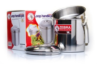 Photo Zebra Inox mugs with handle - 10 to 16 cm