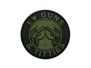 Photo Guns and Titties PVC Patch - OD