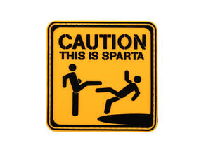 Photo PVC Patch This is Sparta