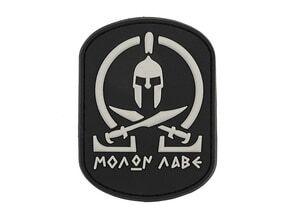 Photo Molon Labe Black PVC Patch