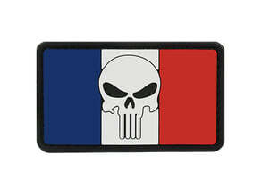 Photo Patch PVC Skull Drapeau France