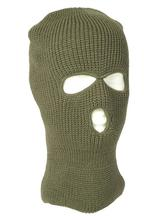 Photo 3 hole winter olive hood