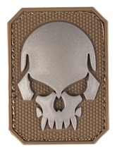 Photo PVC patch Skull Tan 6 x 4.5cm