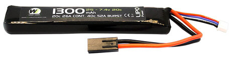 Photo LiPo battery stick 7.4 v / 1300 mAh