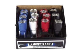 Photo 12 lampes 9 LED en présentoir - Lumitorch