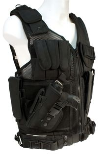 Photo Black vest with holster