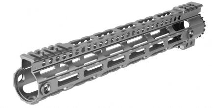"Photo Lightweight Aluminium CNC Free Floating 12,5"" hand guard Grey"