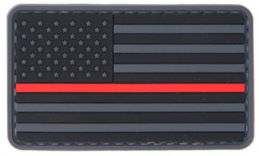 Photo US Flag Red line PVC Patch