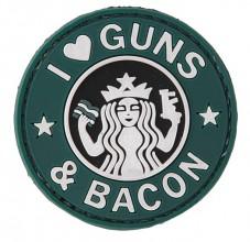 Photo I love Guns & Bacon PVC Patch