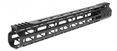 Photo Garde main Aluminium Speed Skeleton M-LOK 15' Noir