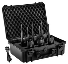 Photo Lot de 6 talkies walkies G10 (montés en série) + mallette de transport - Midland