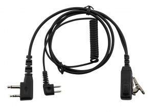 Photo PELTOR compatible earphone cord with P9 micro switch