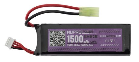 Photo Li-Fe power battery 9.9 v 1500mah 25c slim stick