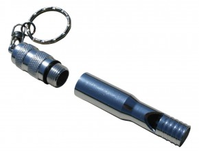 Photo Emergency whistle with message holder