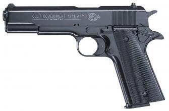 Photo Pistolet 9 mm à blanc Colt Government 1911 A1 bronzé