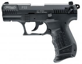 Photo Pistolet 9 mm à blanc Walther P22 noir