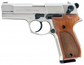 Photo Pistolet 9 mm à blanc Walther P88 nickelé