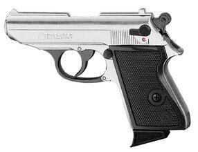 Photo Pistolet 9 mm à blanc Chiappa Lady nickelé
