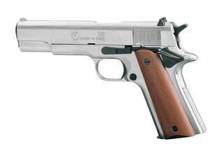 Photo Pistolet 9 mm à blanc Chiappa 911 nickelé