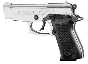 Photo Pistolet 9 mm à blanc Chiappa 85 auto nickelé