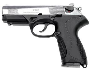Photo 9 mm pistol white to Chiappa PK4 two-tone black / nickel-plated