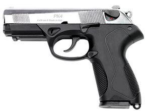 Photo Pistolet 9 mm à blanc Chiappa PK4 bicolore noir/nickelé