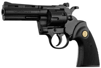 Photo 9mm Revolver to White Chiappa Tanned Python