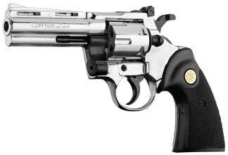 Photo Revolver 9 mm to white Chiappa Python chrome