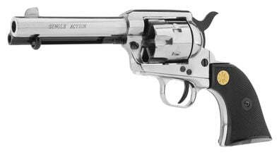 Photo Revolver 9 mm to white Chiappa Colt SA73 nickel plated