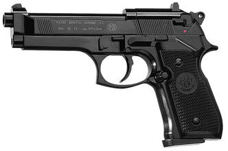 Photo Pistolet CO2 Beretta M92FS noir cal. 4,5 mm