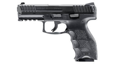 Photo Pistolet CO2 H&K VP9 BB's noir culasse métal cal. 4.5 mm