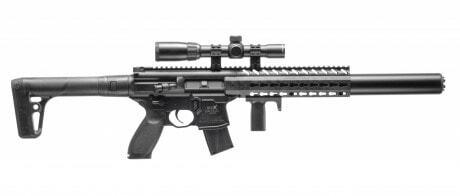 Photo Carabine Sig Sauer MCX Co2 4,5 mm à Plombs + lunette 1-4x24WR