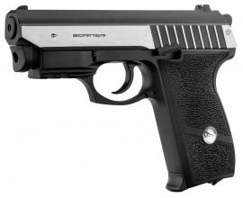 Photo Pistolet Co2 culasse mobile BORNER PANTHER 801 cal. 4.5mm BB's avec laser intégré