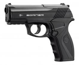 Photo Pistolet Co2 culasse fixe BORNER C11 cal. 4.5mm BB's
