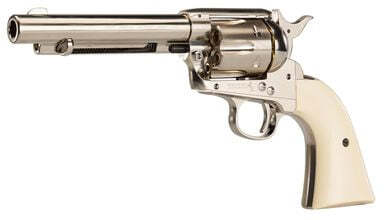 Photo Revolver CO2 Colt Simple Action Army 45 nickelé BB's cal. 4,5 mm