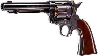 Photo Revolver Colt Simple Action Army 45 noir à diabolos cal. 4.5 mm