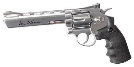 Photo Revolver CO2 Dan Wesson silver 6'' BB's cal. 4,5 mm