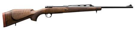 Photo carabine de chasse à verrou type battue Gaucher bois - canon fileté