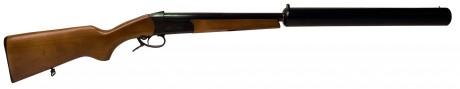 Photo Silent wood single shotgun cal.12 - Model IJ18E