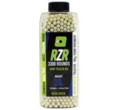 Photo RZR balls 0.20g green 3300bb bottles TRACER - Nuprol
