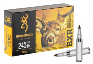 Photo Munition grande chasse Browning cal. 243 Win