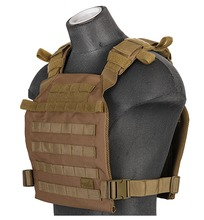 Photo Gilet léger Plate carrier Coyotte Brown 1000D