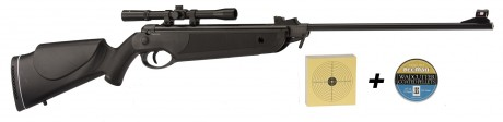 Photo Beeman Bay Cat 4,5mm air rifles with 4x20 scope + pellets + targets